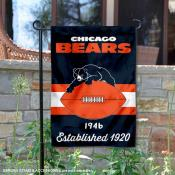 Chicago Bears Throwback Logo Double Sided Garden Flag Flag
