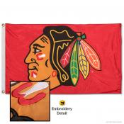 Chicago Blackhawks Embroidered Nylon Flag