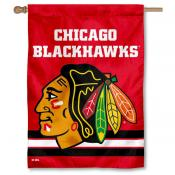Chicago Blackhawks NHL Red Double Sided House Flag