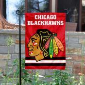 Chicago Blackhawks Red Garden Flag