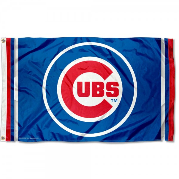 Chicago Cubs Flag is made of 100% polyester, measures 3x5 feet, quad stitched, has two metal grommets, and is viewable from both sides with the opposite side being a reverse image. This Chicago Cubs Flag is MLB Genuine Merchandise