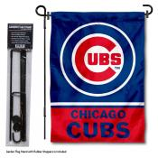 Chicago Cubs Logo Garden Flag and Stand