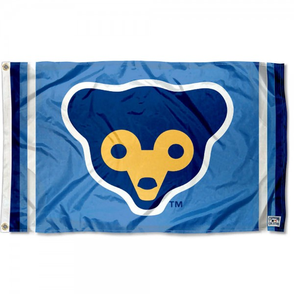 Our Chicago Cubs Retro 70s Logo Flag is double sided, made of poly, 3'x5', has two grommets, and four-stitched fly ends. These Chicago Cubs Retro 70s Logo Flags are Officially Licensed by the MLB.