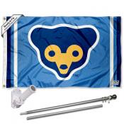 Chicago Cubs Vintage 70s Flag Pole and Bracket Kit