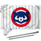 Chicago Cubs Vintage 80s Flag Pole and Bracket Kit