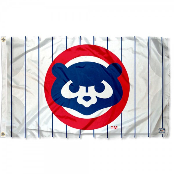 Our Chicago Cubs Vintage 80s Logo Flag is double sided, made of poly, 3'x5', has two grommets, and four-stitched fly ends. These Chicago Cubs Vintage 80s Logo Flags are Officially Licensed by the MLB.