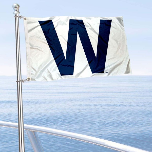 "Our Chicago Cubs ""W"" Boat and Nautical Flag is 12""x18"", made of three-ply poly, has a solid header with two metal grommets, and is double sided. This Boat and Nautical Flag for Chicago Cubs is Officially Licensed by the MLB and can also be used as a motorcycle flag, boat flag, golf cart flag, or recreational flag."