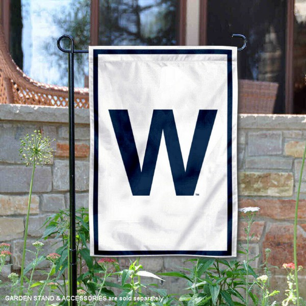 Chicago Cubs W Garden Flag is 12.5x18 inches in size, is made of 2-ply polyester, and has two sided screen printed logos and lettering. Available with Express Next Day Shipping, our Chicago Cubs W Garden Flag is MLB Genuine Merchandise and is double sided.