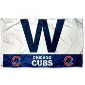 Chicago Cubs W Logo Flag