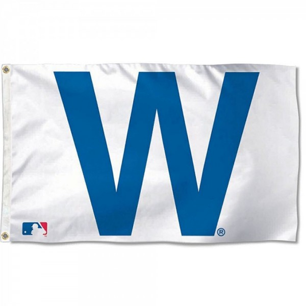 Chicago Cubs W Win Flag measures 3x5 feet, is made of polyester, offers quad-stitched flyends, has two metal grommets, and is viewable from both sides with a reverse image on the opposite side. Our Chicago Cubs W Win Flag is Genuine MLB Merchandise.