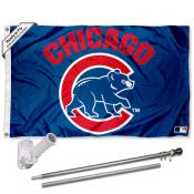Chicago Cubs Walking Cub Flag Pole and Bracket Kit