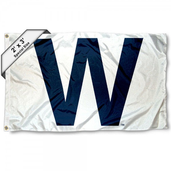 Chicago Cubs Win W 2x3 Flag is made of 100% polyester, measures 2x3 feet, quad stitched, has two metal grommets, and is viewable from both sides with the opposite side being a reverse image. This Chicago Cubs Win W 2x3 Flag is MLB Genuine Merchandise