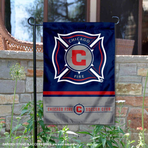 Chicago Fire Garden Flag is 12.5x18 inches in size, is made of 2-ply polyester, and has two sided screen printed logos and lettering. Available with Express Next Day Shipping, our Chicago Fire Garden Flag is MLS Genuine Merchandise and is double sided.