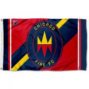 Chicago Fire Outdoor Flag