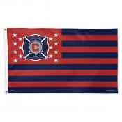 Chicago Fire Stars and Stripes MLS Flag