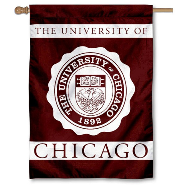 Chicago Maroons House Flag is a vertical house flag which measures 28x40 inches, is made of 2 ply 100% nylon, offers dye sublimated NCAA team insignias, and has a top pole sleeve to hang vertically. Our Chicago Maroons House Flag is officially licensed by the selected university and the NCAA