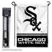 Chicago White Sox Logo Garden Flag and Stand