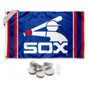 Chicago White Sox Vintage Retro Banner Flag with Tack Wall Pads