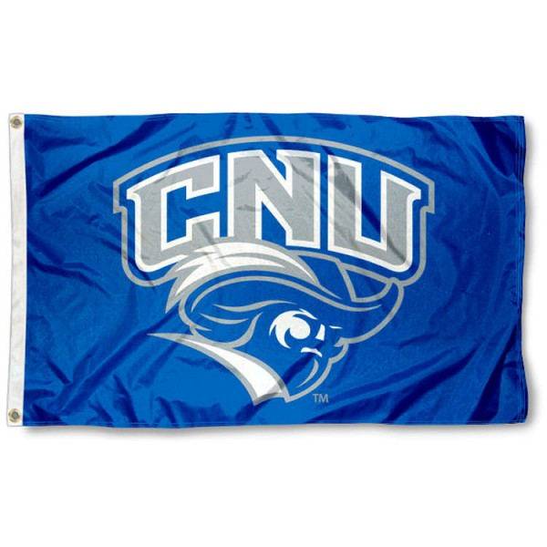 Christopher Newport University 3x5 Flag is made of 100% nylon, offers quad stitched flyends, measures 3x5 feet, has two metal grommets, and is viewable from both side with the opposite side being a reverse image. Our Christopher Newport University 3x5 Flag is officially licensed by the selected college and NCAA