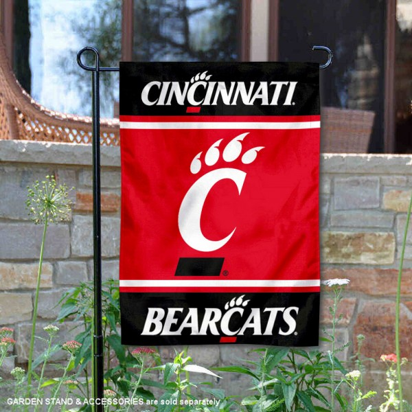 Cincinnati Bearcats Garden Flag is 13x18 inches in size, is made of 2-layer polyester, screen printed logos and lettering. Available with Same Day Express Shipping, Our Cincinnati Bearcats Garden Flag is officially licensed and approved by the NCAA.
