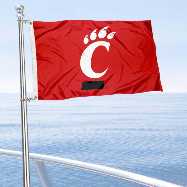 Cincinnati Bearcats Golf Cart Flag is a small 12x18 inches, made of 2-ply polyester with quad stitched flyends, and is double-sided. Our Golf Cart Logo Flags are Officially Licensed and Approved by University of Cincinnati and NCAA.