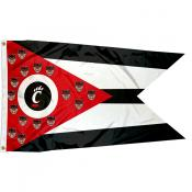 Cincinnati Bearcats State of Ohio Flag