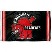 Cincinnati Bearcats Throwback Vault Logo Flag