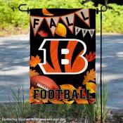 Cincinnati Bengals Fall Football Leaves Decorative Double Sided Garden Flag