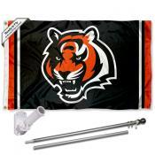 Cincinnati Bengals Flag Pole and Bracket Kit