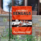 Cincinnati Bengals Throwback Logo Double Sided Garden Flag Flag