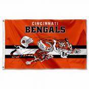Cincinnati Bengals Throwback Retro Vintage Logo Flag
