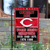 Cincinnati Reds 5-Time World Series Champions Garden Flag
