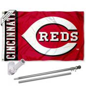 Cincinnati Reds Flag Pole and Bracket Kit