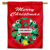 Cincinnati UC Bearcats Happy Holidays Banner Flag