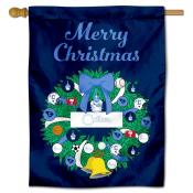 Citadel Bulldogs Happy Holidays Banner Flag