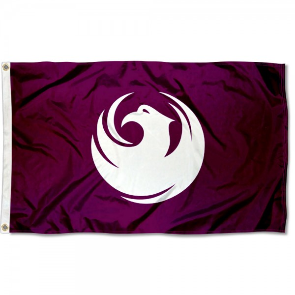 City of Phoenix Flag measures 3'x5', is made of 100% poly, has quadruple stitched sewing, two metal grommets, and has double sided City of Phoenix logos.