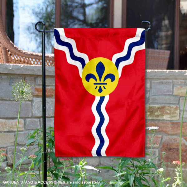 City of St. Louis Garden Flag is 13x18 inches in size, is made of 2-layer polyester, screen printed logos and lettering, and is viewable on both sides. Available same day shipping, our City of St. Louis Garden Flag is a great addition to your decorative garden flag selections.