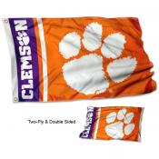 Clemson Double Sided Flag