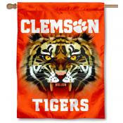 Clemson Eyes Logo House Flag