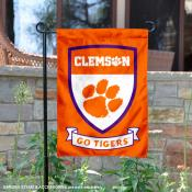Clemson Go Tigers Shield Garden Flag