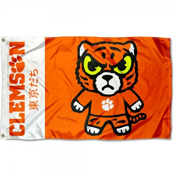 Clemson Kawaii Tokyo Dachi Yuru Kyara Flag measures 3x5 feet, is made of 100% polyester, offers quadruple stitched flyends, has two metal grommets, and offers screen printed NCAA team logos and insignias. Our Clemson Kawaii Tokyo Dachi Yuru Kyara Flag is officially licensed by the selected university and NCAA.