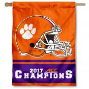 Clemson Tigers 2017 ACC Football Champions House Flag