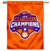 Clemson Tigers 2018 Football National Champions House Flag