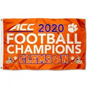 Clemson Tigers 2020 Football Conference Champions Flag