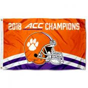 Clemson Tigers ACC 2018 Football Champions Flag