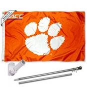 Clemson Tigers ACC Flag Pole and Bracket Kit