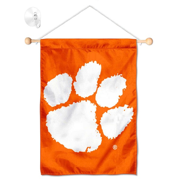 Clemson Tigers Banner with Suction Cup