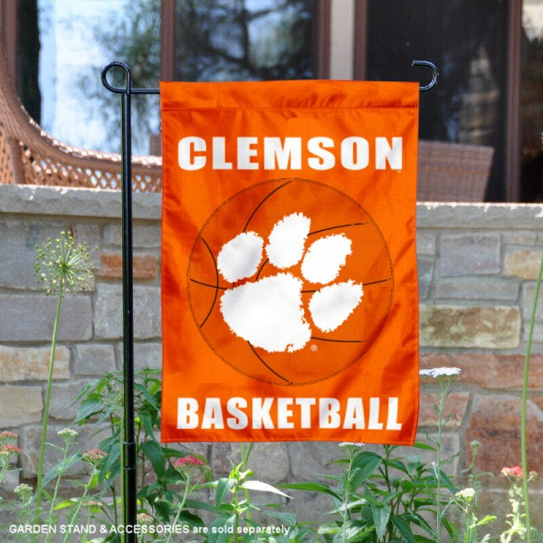 Clemson Tigers Basketball Garden Banner is 13x18 inches in size, is made of 2-layer polyester, screen printed athletic logos and lettering. Available with Same Day Express Shipping, Our Clemson Tigers Basketball Garden Banner is officially licensed and approved by the school and the NCAA.