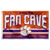 Clemson Tigers Fan Man Cave Game Room Banner Flag