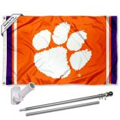Clemson Tigers Flag Pole and Bracket Kit